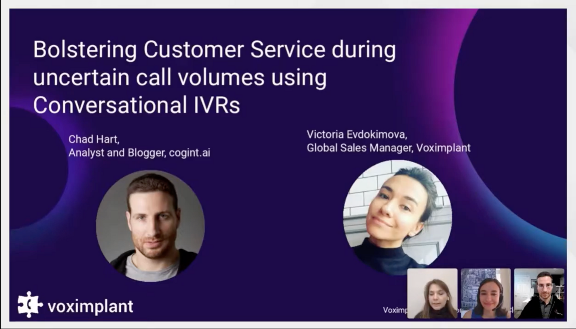 Webinar: Bolstering customer service with conversational IVRs